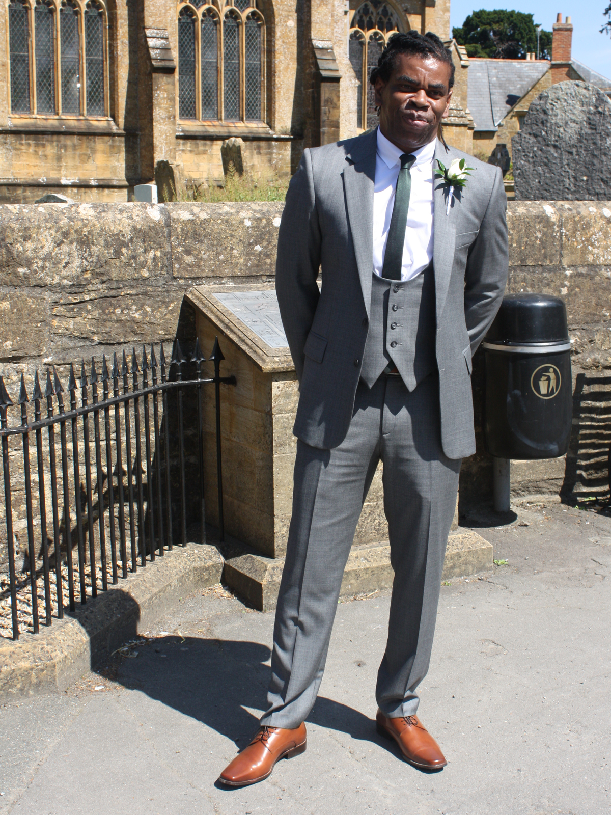 Lovely example of bespoke three piece men's suit