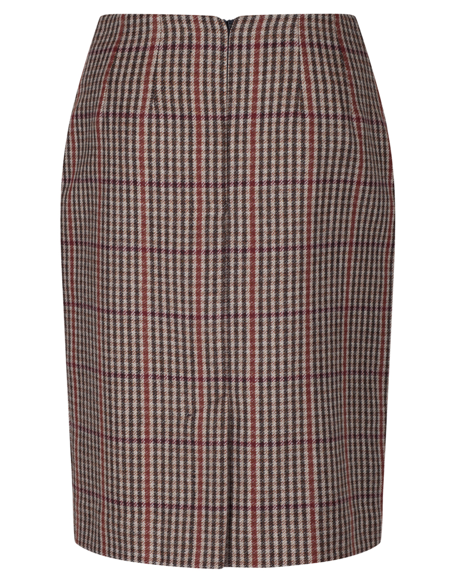 burgundy check pencil skirt ma1026 myles anthony