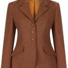 women's rust coloured tweed jacket
